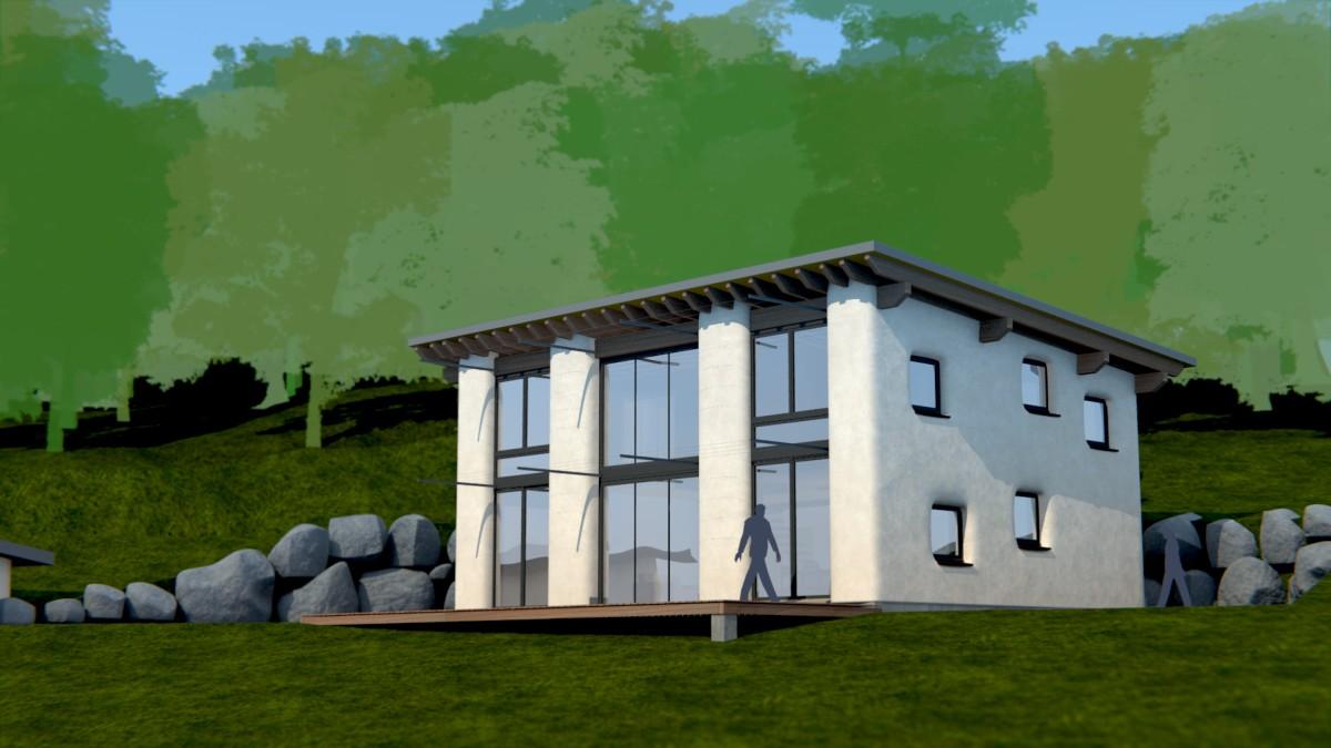maison 03 ossature bois et bottes de paille matthieu dupont de dinechin architecte dplg. Black Bedroom Furniture Sets. Home Design Ideas